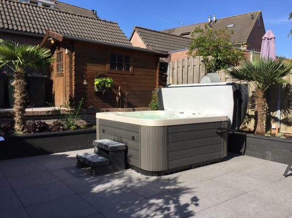 Spa in de tuin